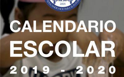 Calendario Escolar 2019 – 2020